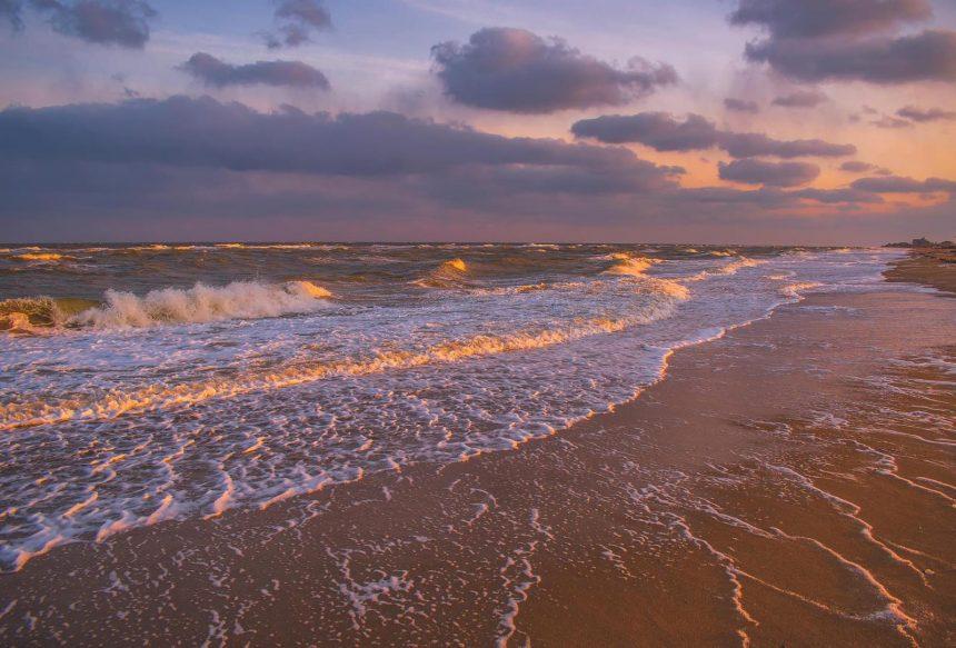 бердянкая коса - море пляж